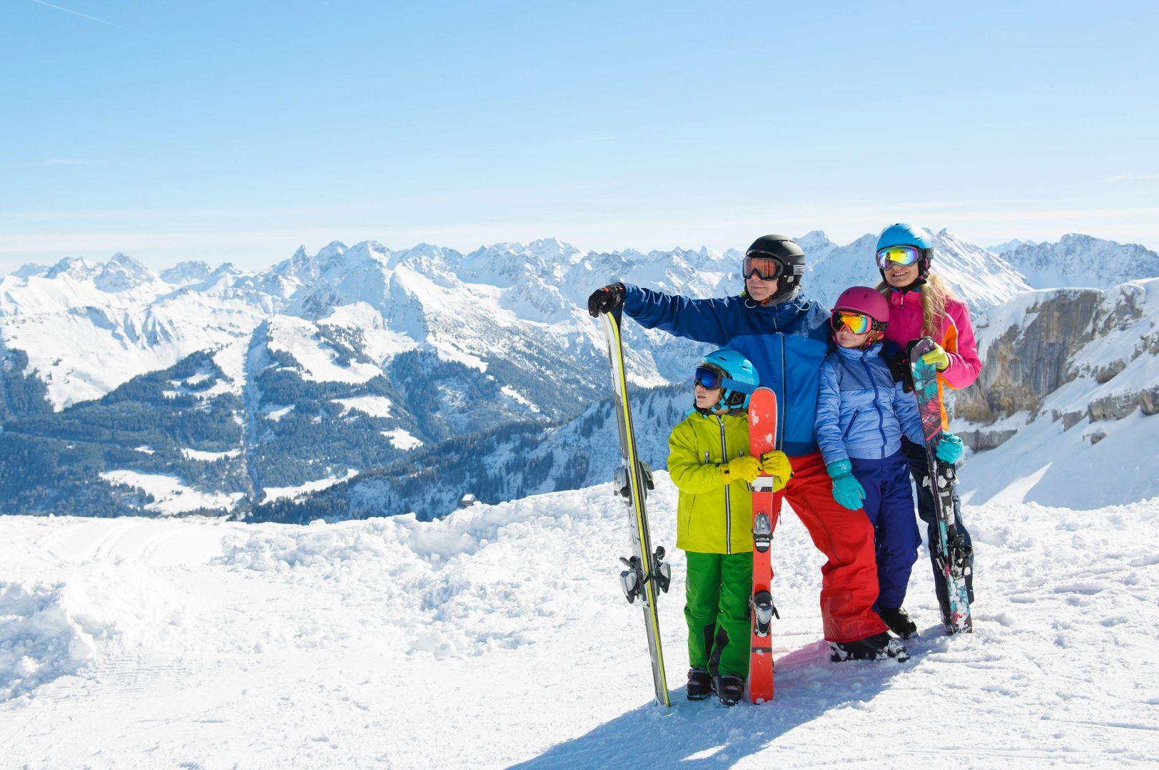 Narty w Alpach z dziećmi
