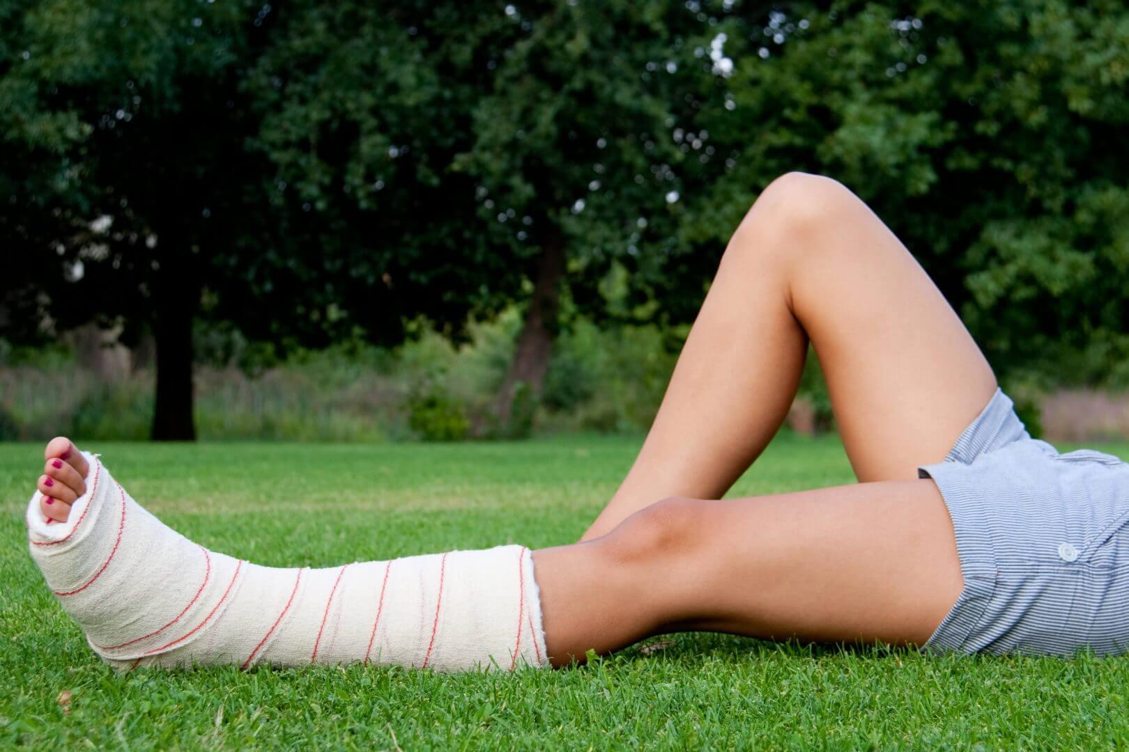 Złamana noga na wakacjach