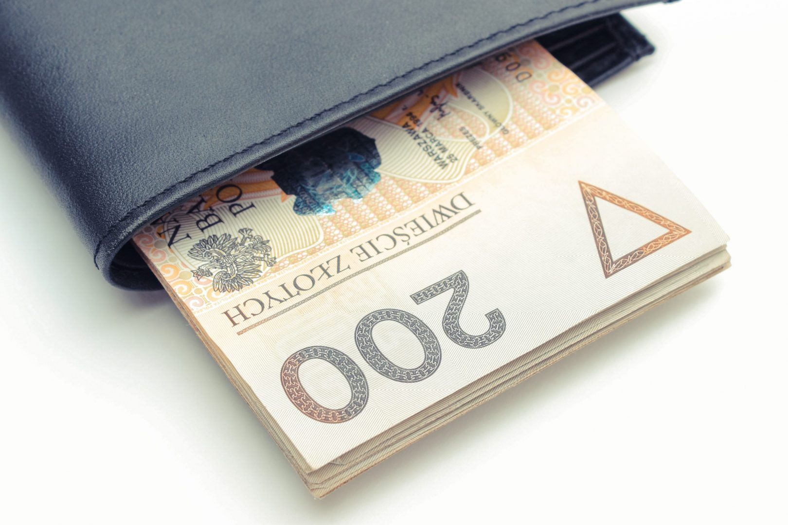 Polski banknot w portfelu
