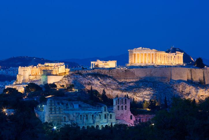 Jak dojechać z lotniska w Atenach do centrum w nocy