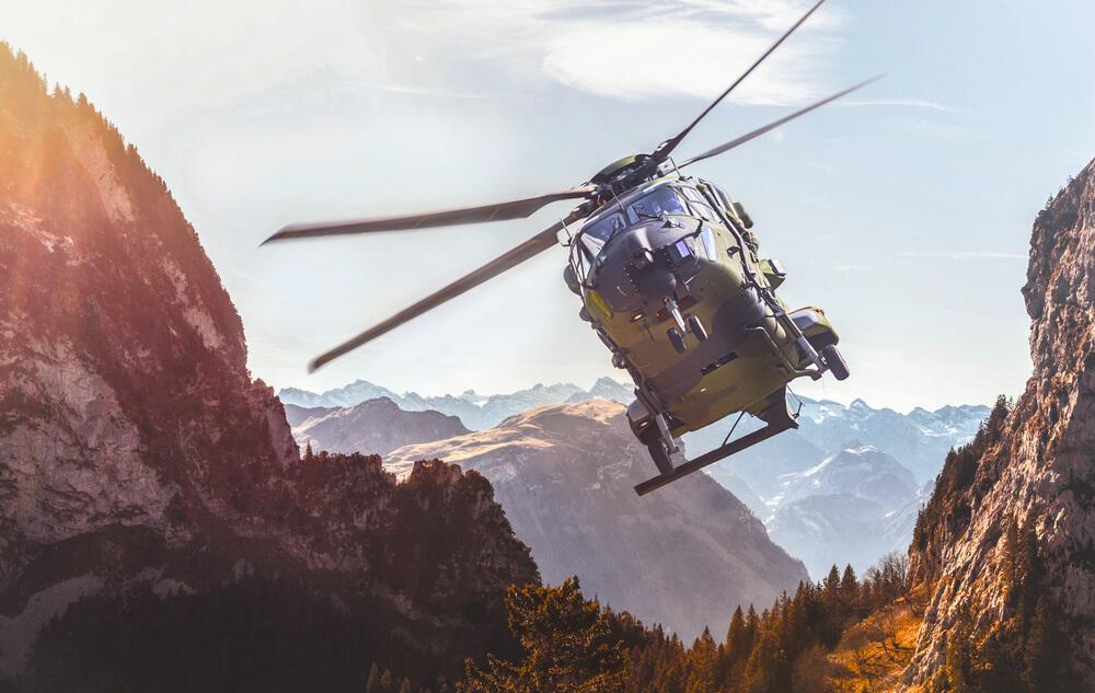 akcja ratunkowa z udziałem helikoptera