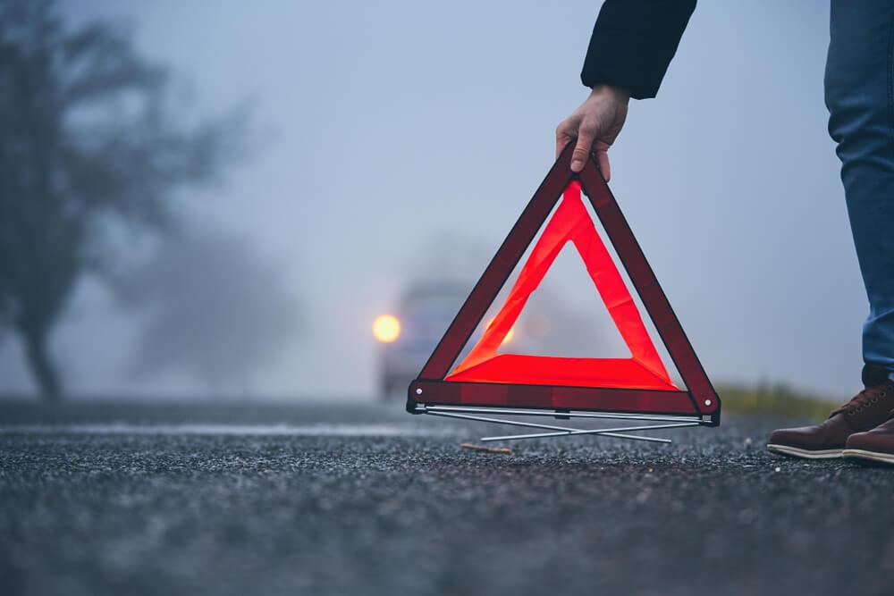 odblaskowy trójkąt ostrzegawczy